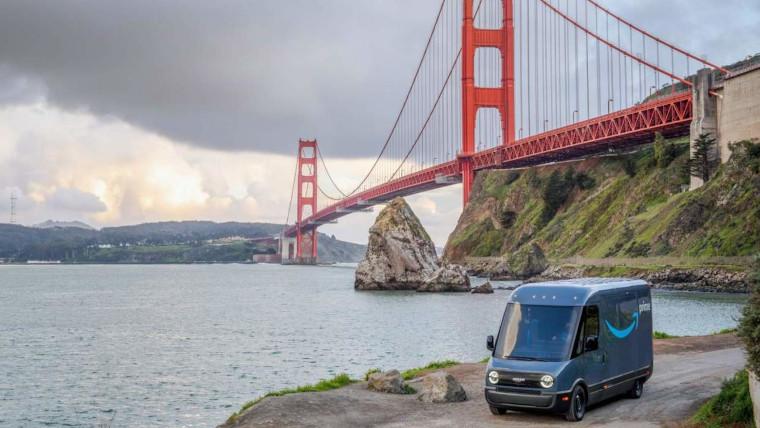 آمازون در حال تست ون الکتریکی ارسال کالا در سانفرانسیسکو