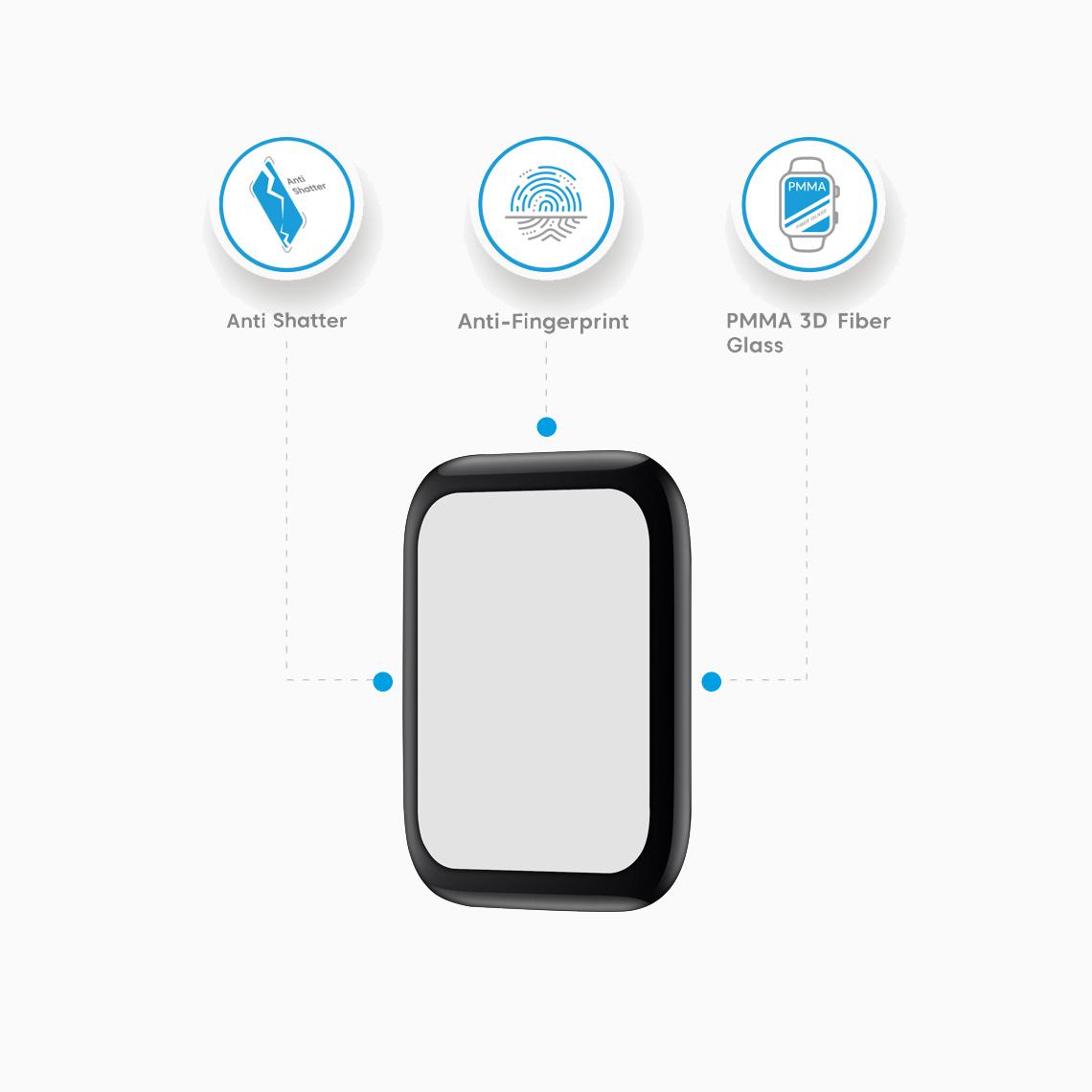 محافظ صفحه نمایش اپل واچ ۴۴ میلی متری بلینکس مدل Velvet مات