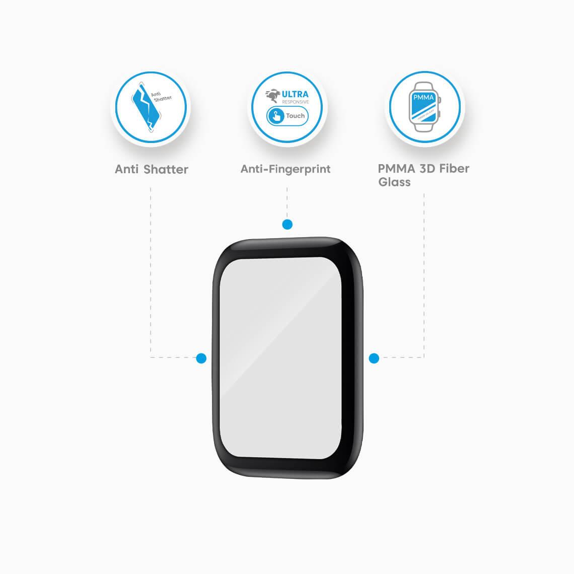 محافظ صفحه نمایش اپل واچ 44 میلیمتری 3D بلینکس مدل Lumino