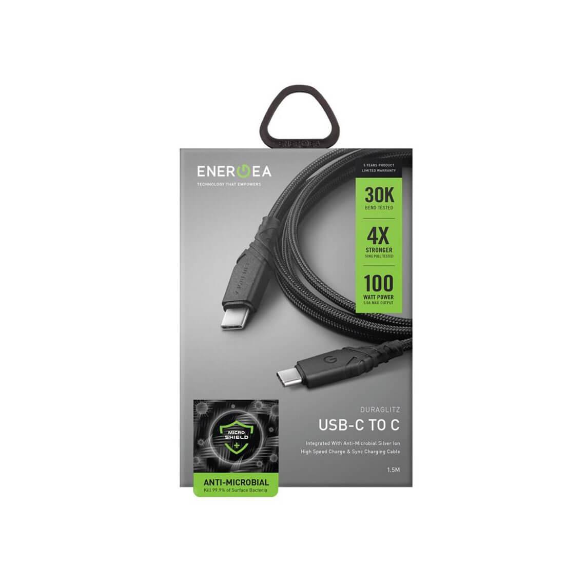 کابل 1.5 متری انرژیا Duraglitz تبدیل USB-C به USB-C