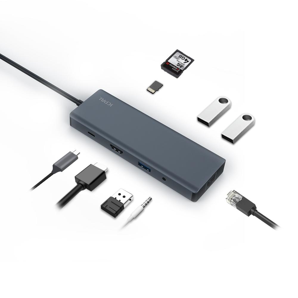 هاب 9 پورت USB-C جی سی پال سری Linx مدل JCP6179