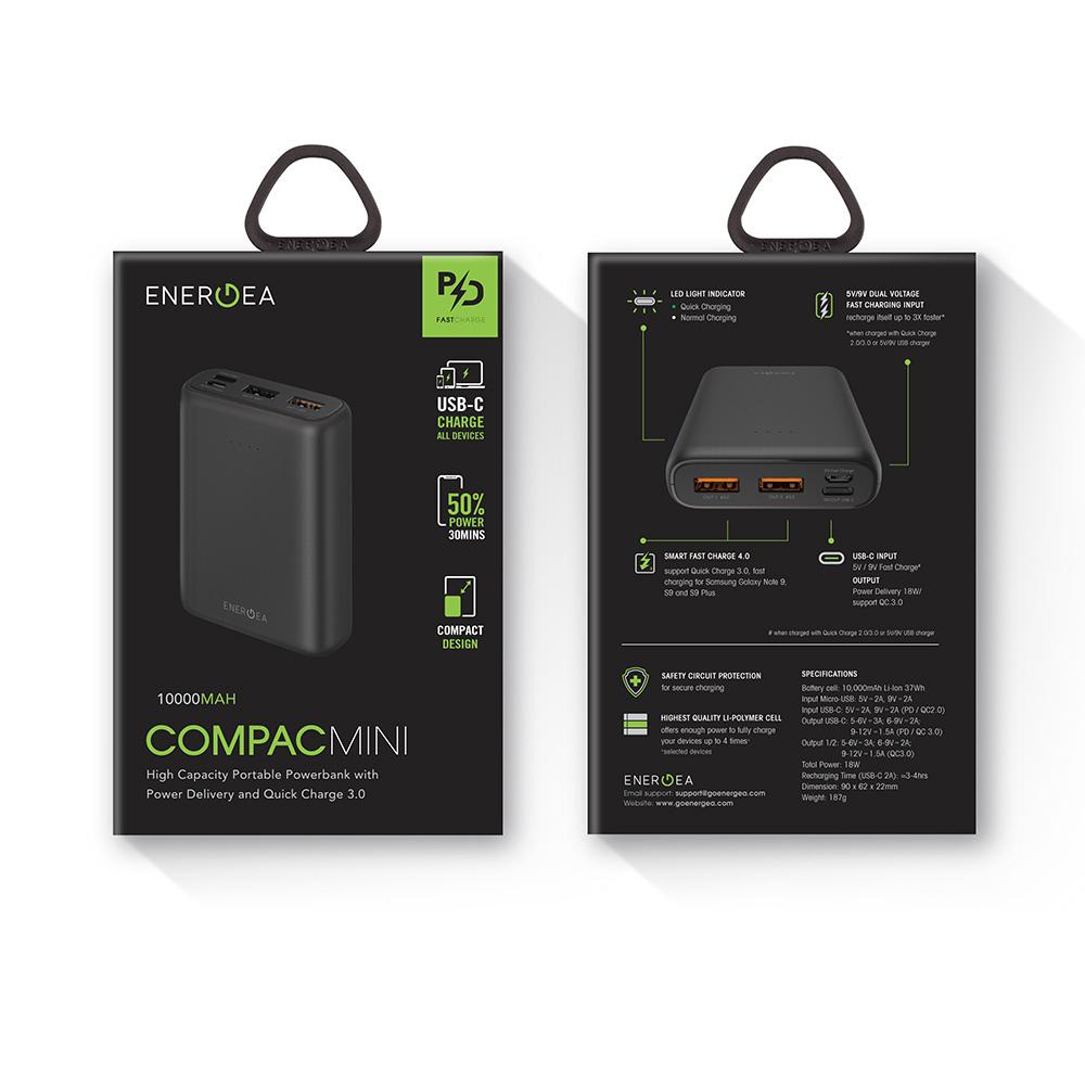پاور بانک انرژیا ۱۰۰۰۰ میلی آمپر مدل ComPac Mini