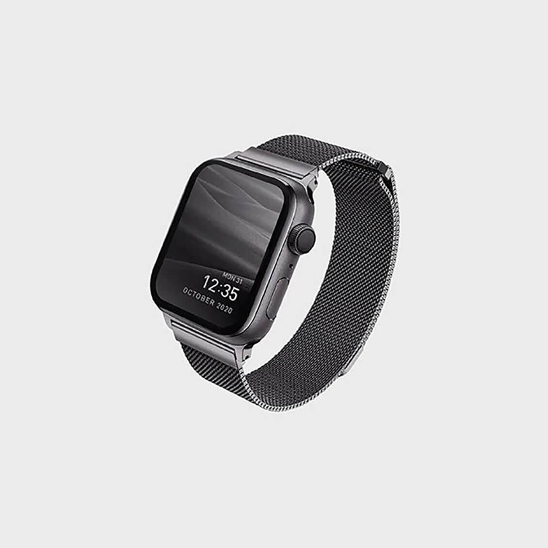 بند اپل واچ بافت استیل یونیک مدل Dantewatch مناسب برای اپل واچ 40MM