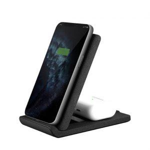 3. شارژر وایرلس دوگانه و پایه گوشی Vertex Duo | قیمت شارژر وایرلس اپل 11